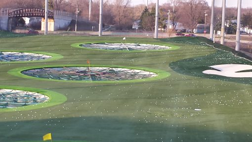 Infill Sand Golf Synthetic Turf