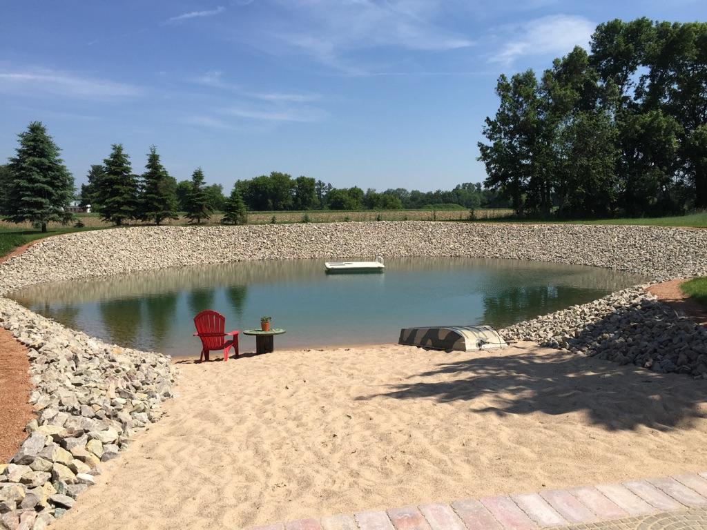 Pond Erosion Rock