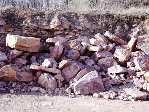 Limestone Outcropping Stone