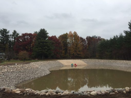 Pond Rock Erosion Control